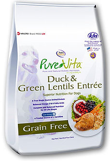 PURE VITA GRAIN FREE DUCK & GREEN LENTIL'S