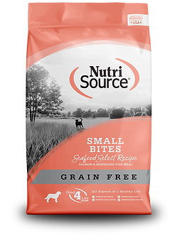 NUTRISOURCE GRAIN FREE SMALL BREED SEAFOOD SELECT 5LB