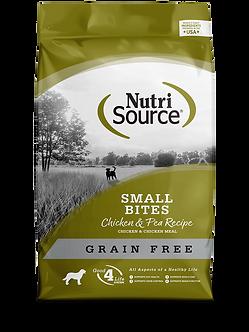 NUTRISOURCE GRAIN FREE SMALL BITES CHICKEN & PEA