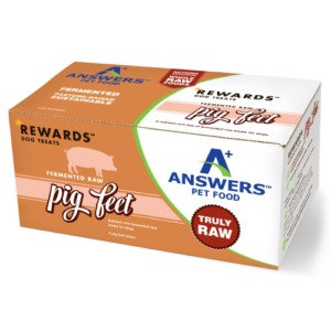 ANSWERS FERMENTED RAW PIG FEET 4CT