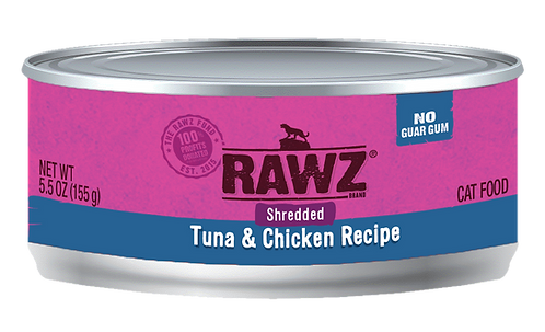 RAWZ CAT SHREDDED TUNA & CHICKEN RECIPE 3OZ
