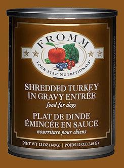 FROMM 4 STAR SHREDDED TURKEY CAN 12OZ