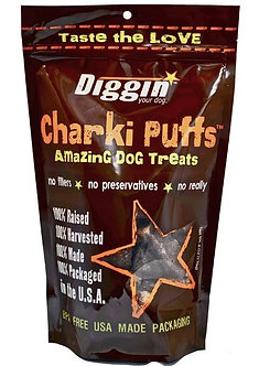 DIGGIN YOUR DOG CHARKI PUFF TREAT 6OZ