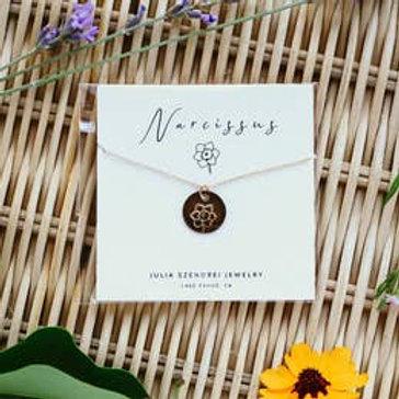 December Birth Flower Necklace - Narcissus