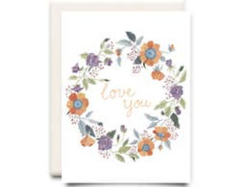 Love You Wreath: Love Card
