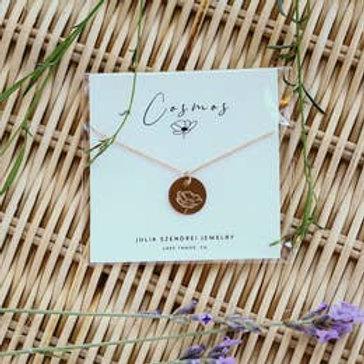 October Birth Flower Necklace - Cosmos