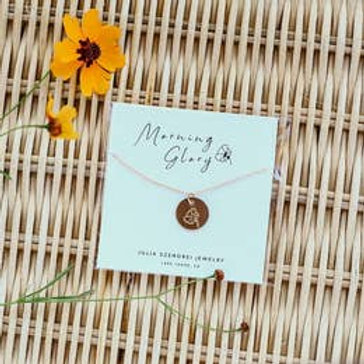 September Birth Flower Necklace - Morning Glory