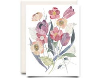 Tulip Bouquet: Floral Greeting Card