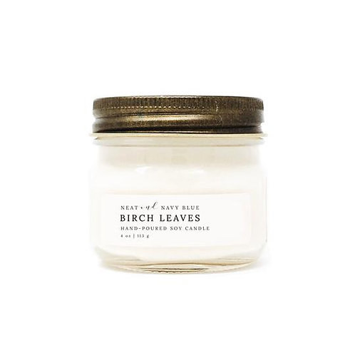 Birch Leaves 4 oz candle