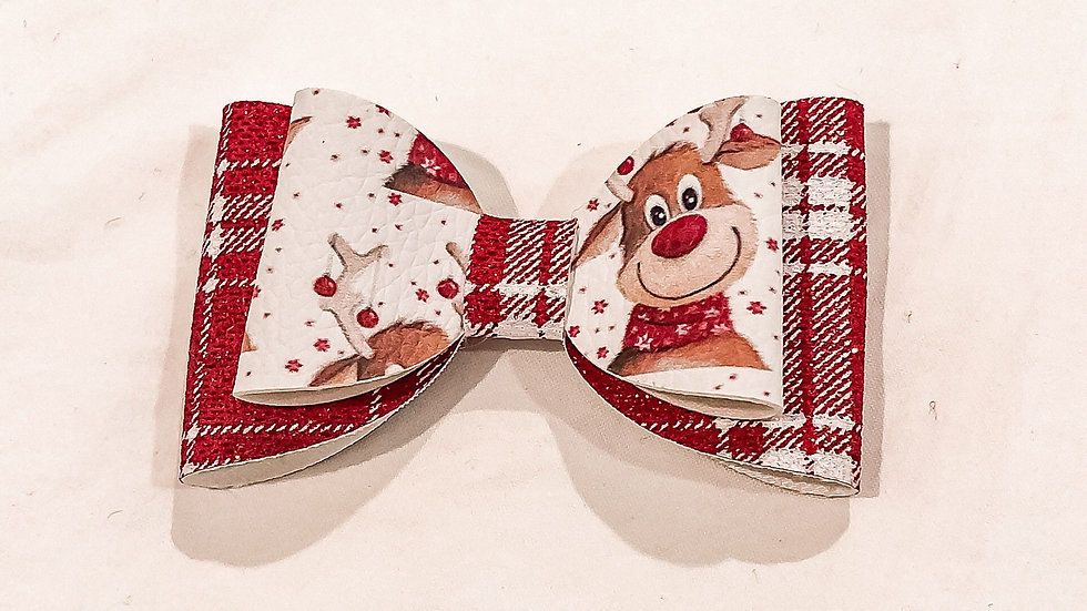 Abby Bow - Rudolf/Tartan - Clip