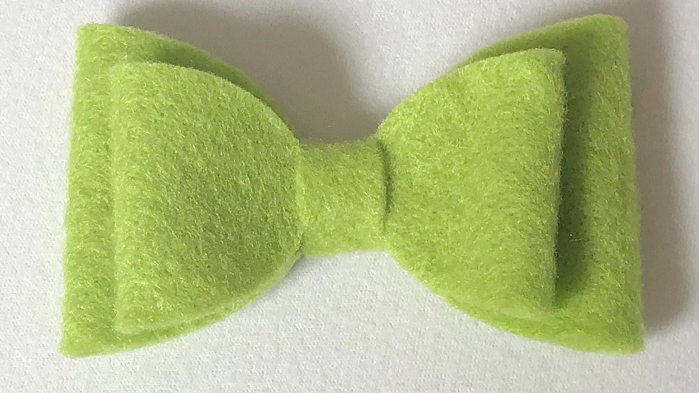 Abby Bow - Green - Clip