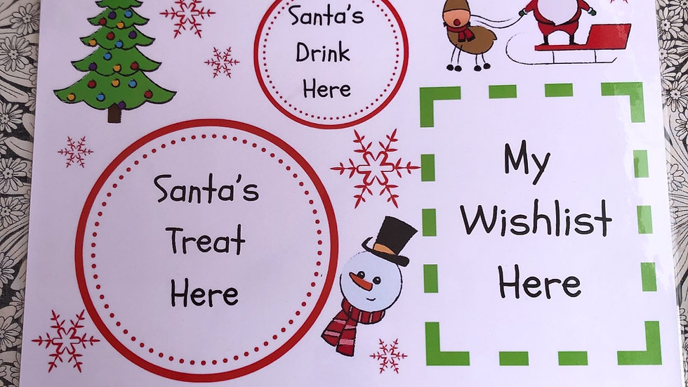 Santa Placemat - Red/Green