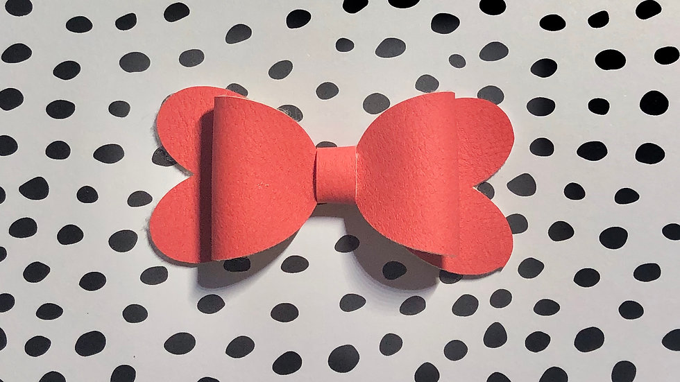 Blossom Bow - Red - Clip