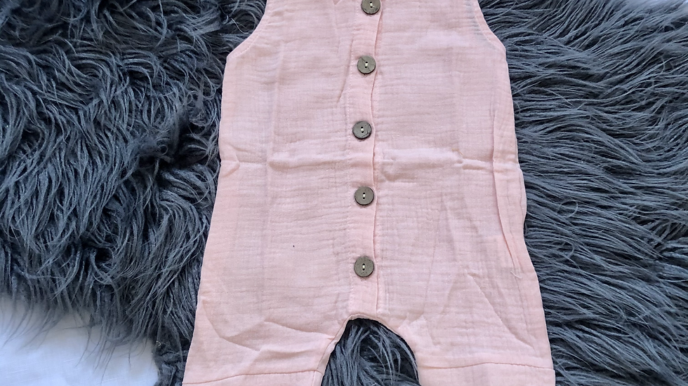 River Playsuit - Soft Pink