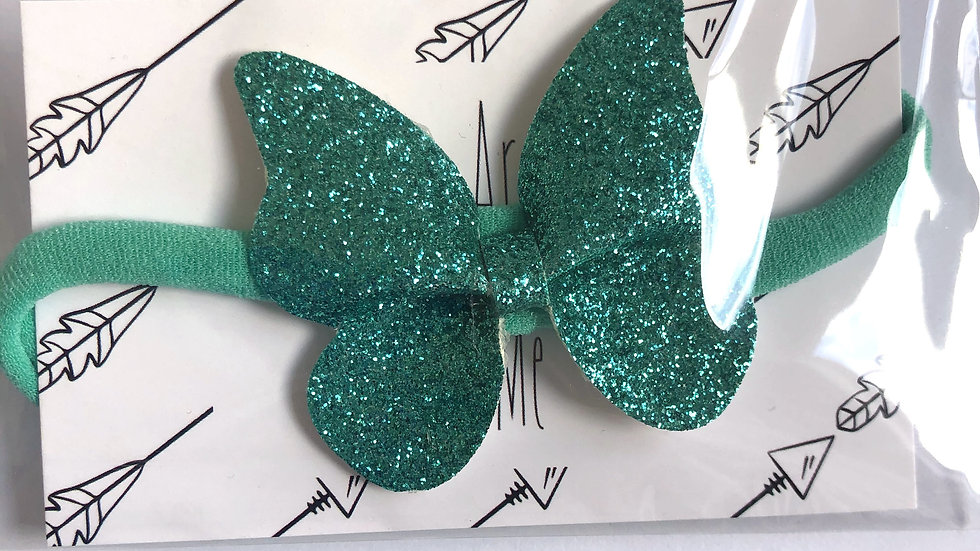 Banksia Bow - Teal - Headband