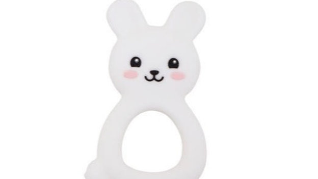 Bunny Teether - White