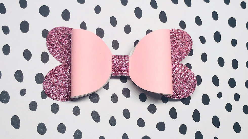 Blossom Bow - Glow Pink/Glimmer Pink - Clip