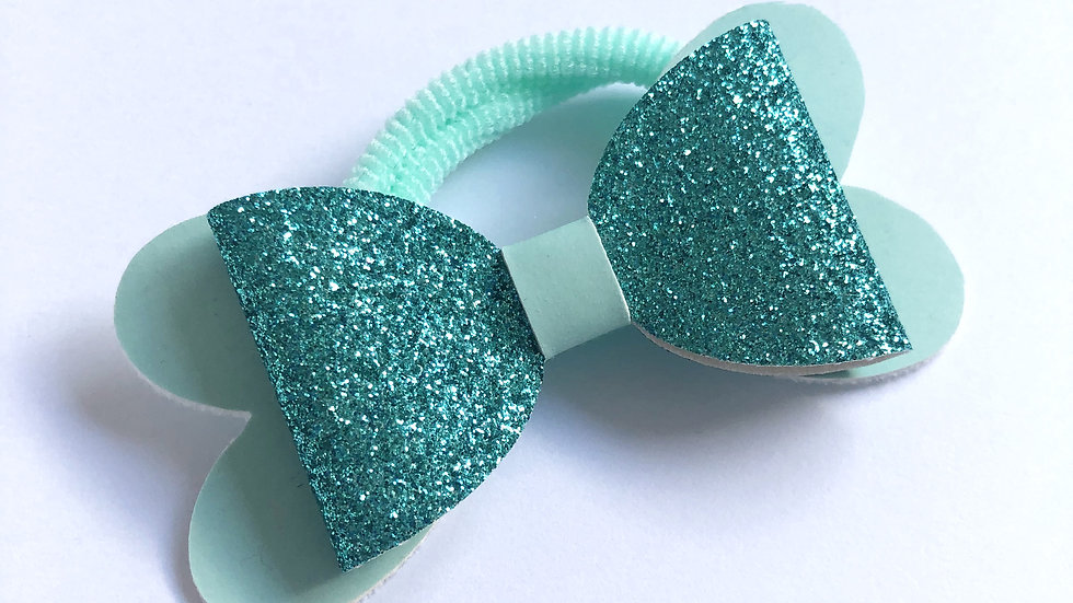 Blossom Bow - Glow Blue/Teal -Hair Tie
