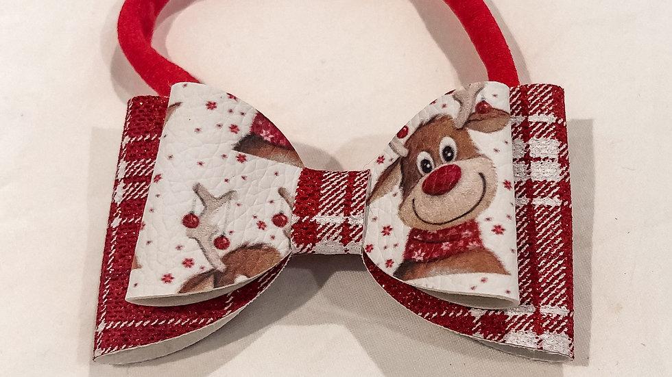 Abby Bow - Rudolf/Tartan  - Headband