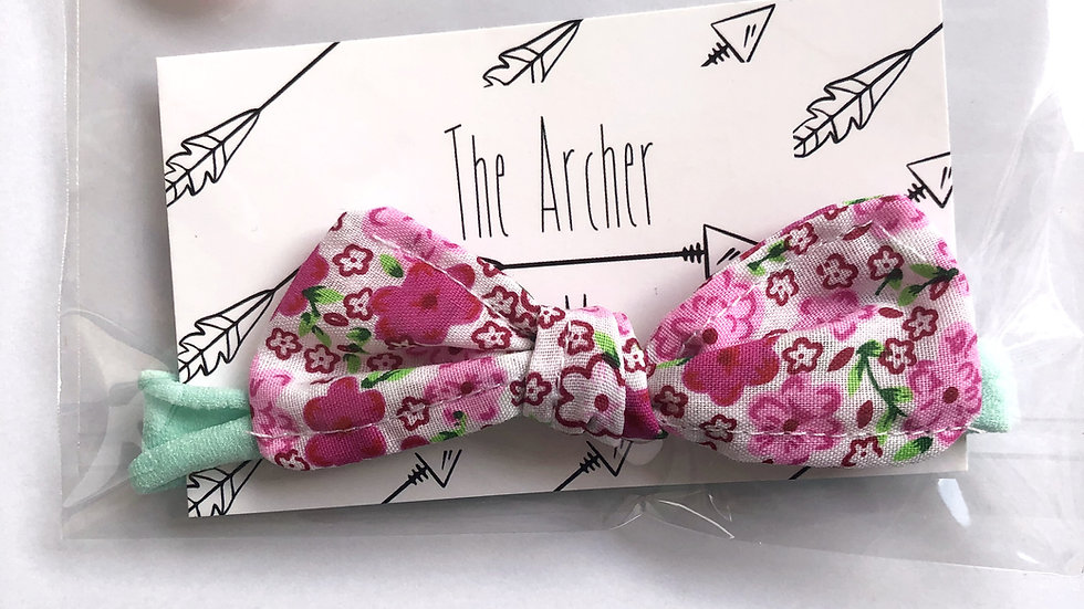 Fleur Headband - Floral/Mint