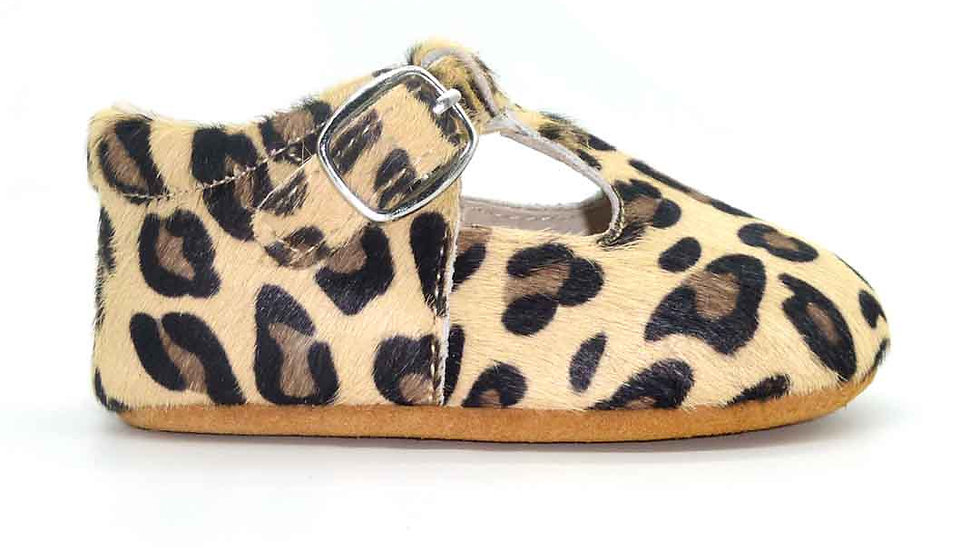 Milly Baby T-Bar  - Leopard