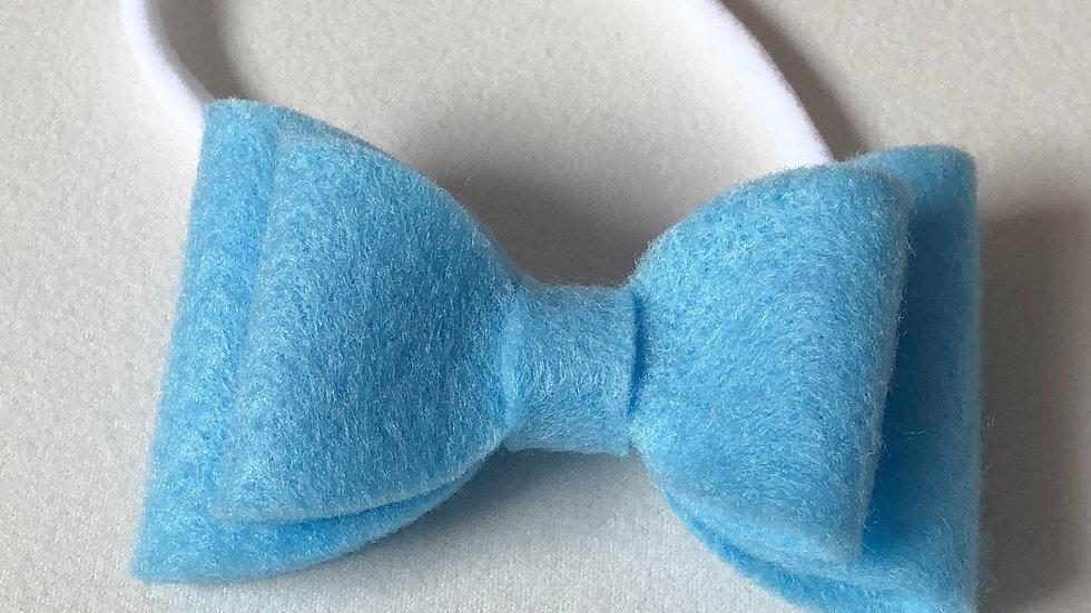 Abby Bow - Sky Blue  - Headband