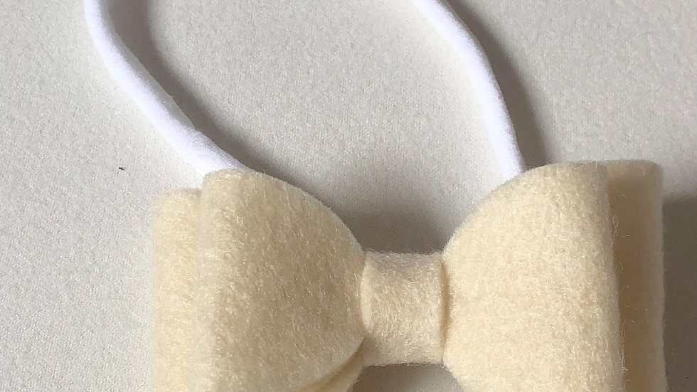 Abby Bow - Cream  - Headband
