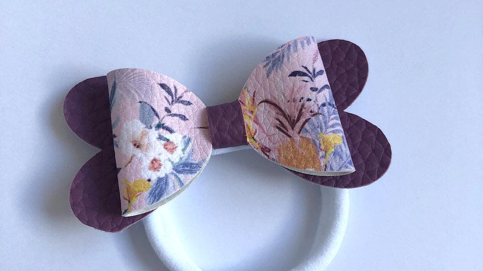 Blossom Bow - Hawaii/Grape - Hair Tie