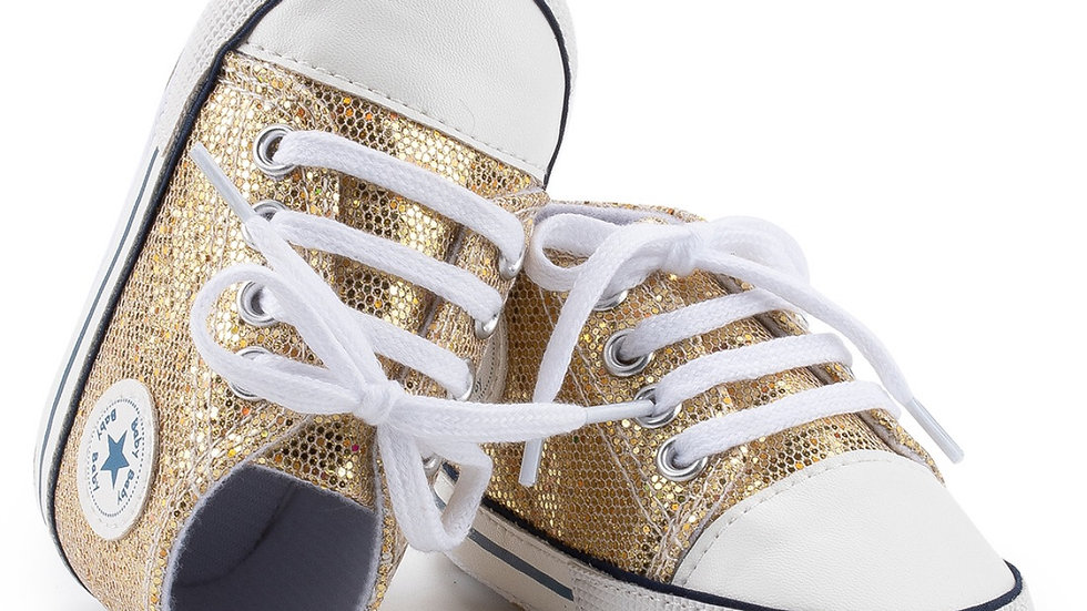 Charlie High Top - Glitter Gold
