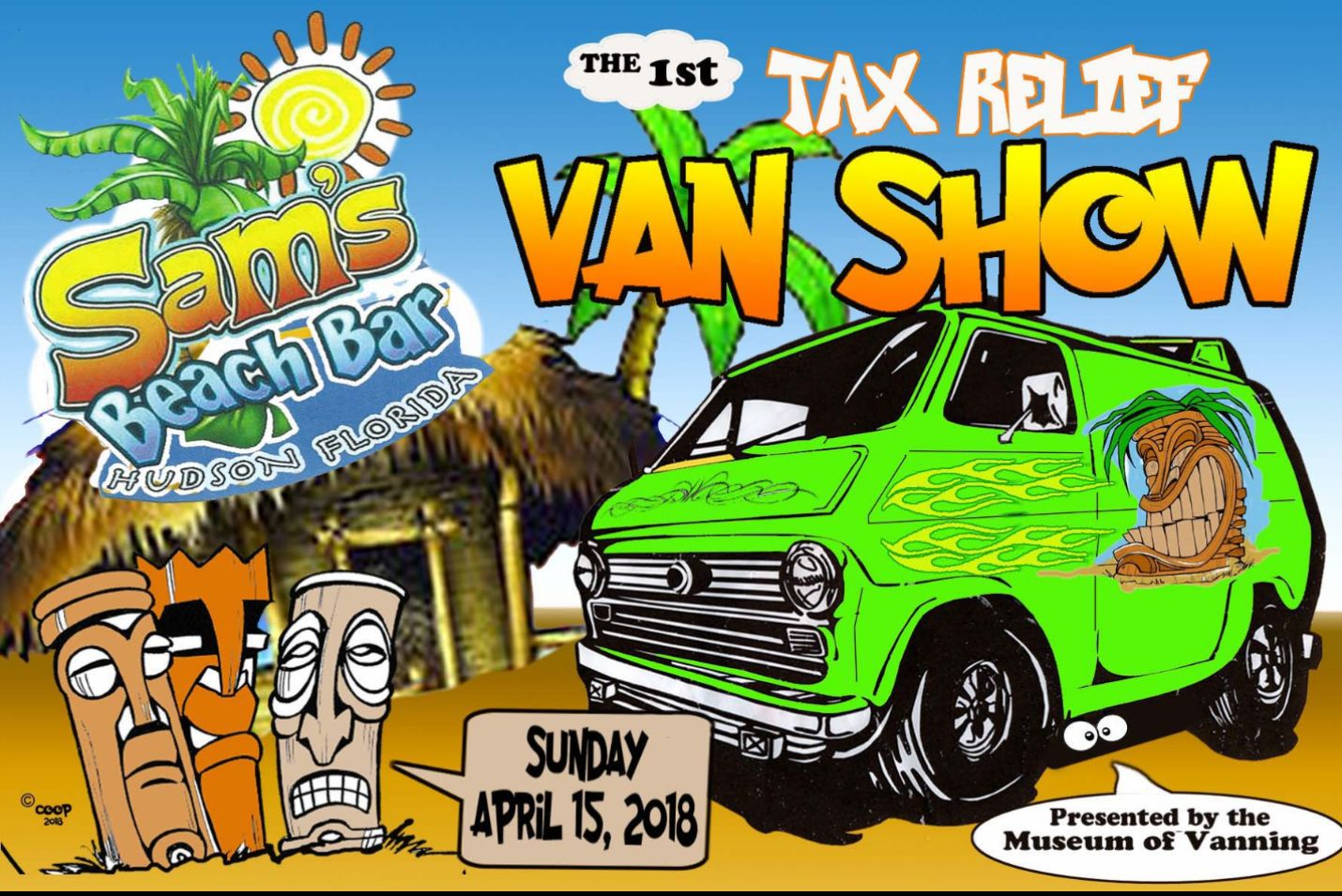 Sam's Tiki Bar Van Show