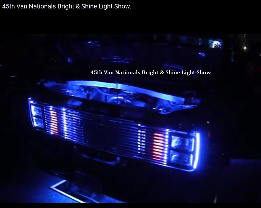 45th Van Nationals Light Show