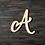 Thumbnail: Letter A Wooden Cutout