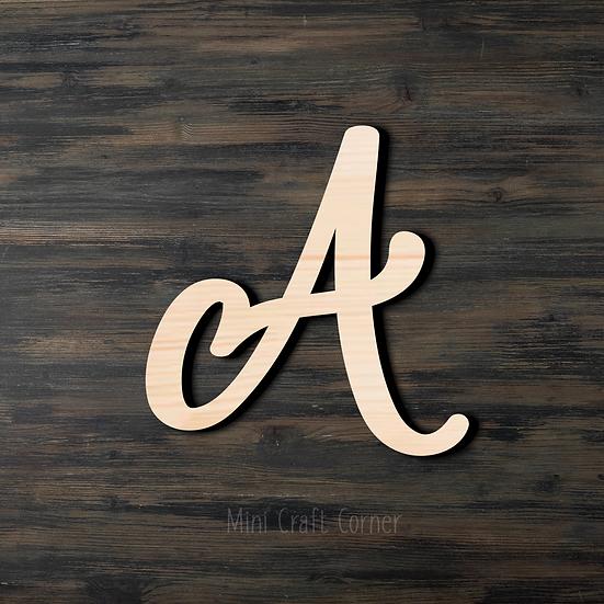 Letter A Wooden Cutout