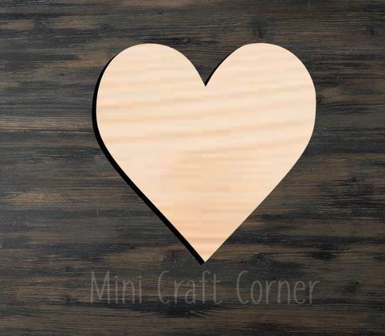 Heart Wooden Cutout