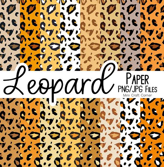DIGITAL Leopard Print Backgrounds