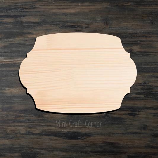 Plaque 2 Wooden Cutout