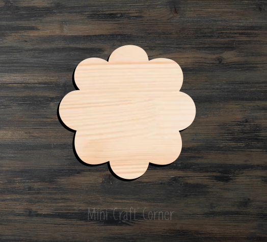 Flower Wooden Cutout 3