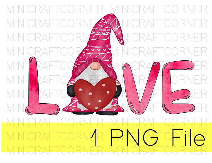 PNG -Gnome Love Design File