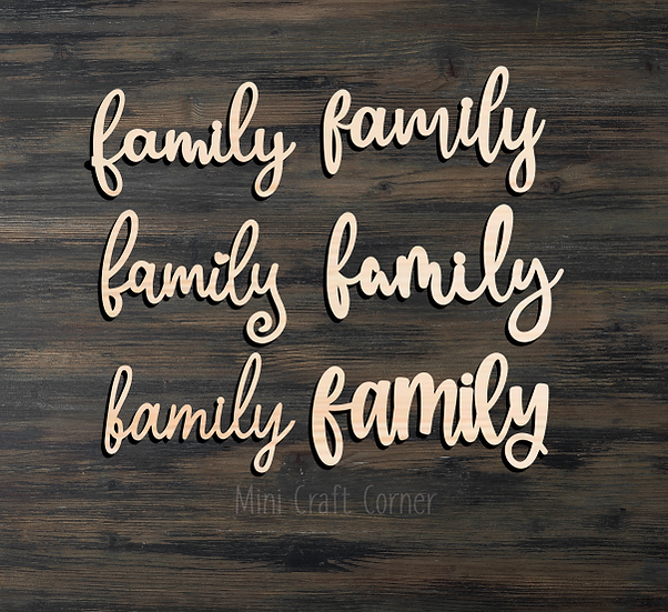Family Wooden Cutout