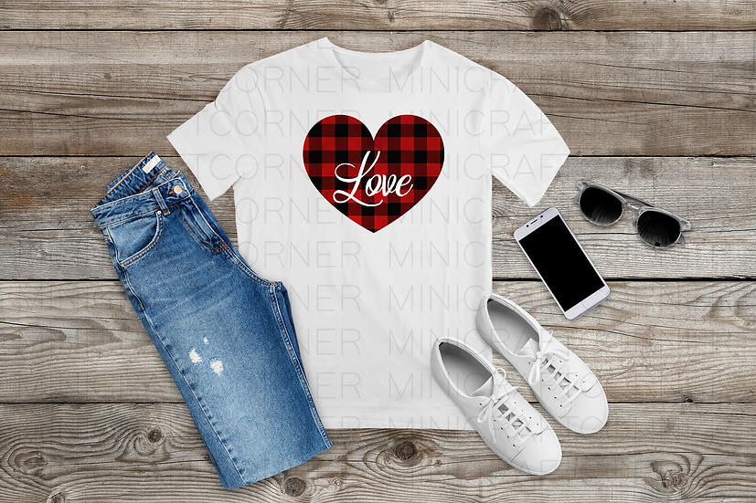 PNG -Plaid Heart Design File