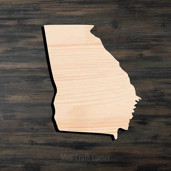 Georgia Wooden Cutout