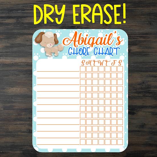 TESTER -Pet Pals Dry Erase Chore Chart