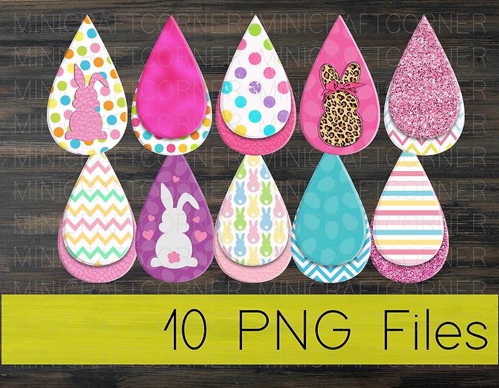 PNG -Easter Earrings Design File