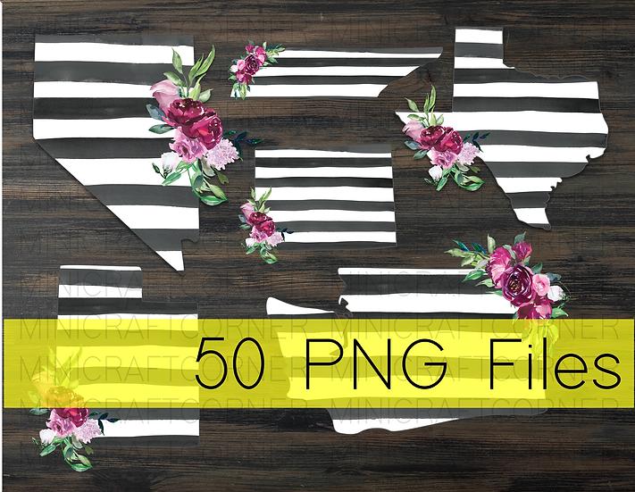 PNG -Floral States Design Files