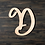 Thumbnail: Letter D Wooden Cutout