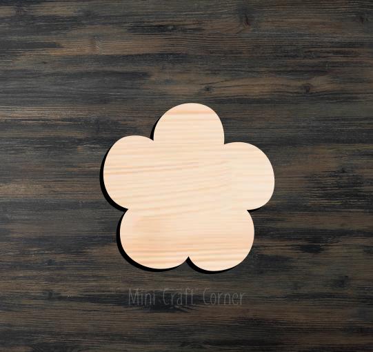 Flower Wooden Cutout 2