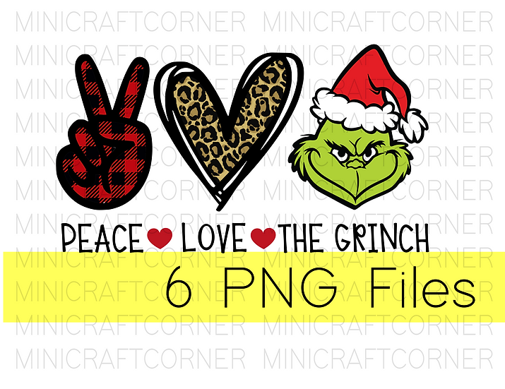 PNG -Peach Love and the Grinch Design File