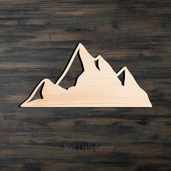 Mountain 2 Wooden Cutout