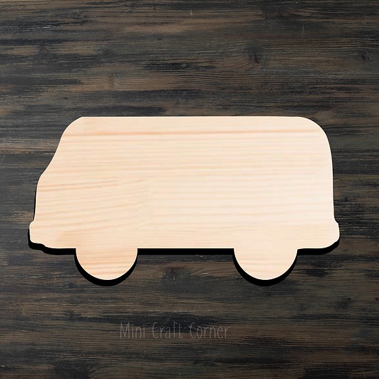 VW Van 2 Wooden Cutout