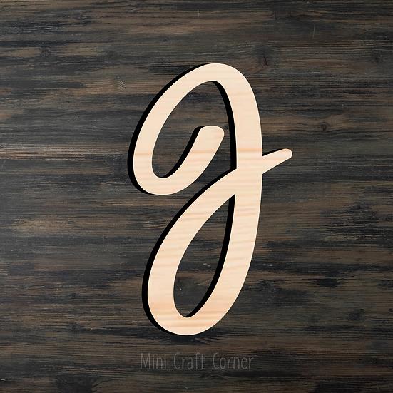 Letter J Wooden Cutout